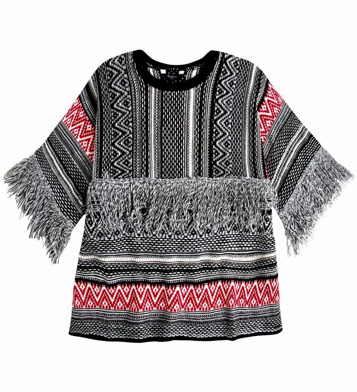 545b2518e0a Dámský svetr s třásněmi PEPE JEANS