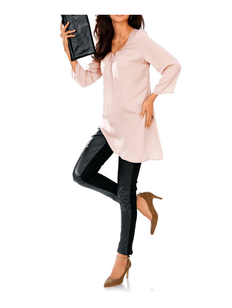 Hedvábná tunika, Ashley Brooke tunika z hedvábí také pro plnoštíhlé