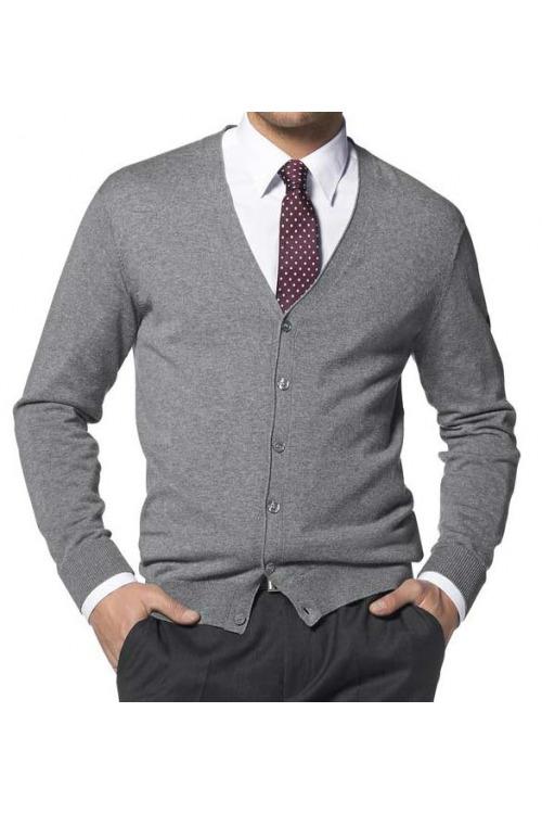 Pánský svetr na knoflíky, pánský propínací svetr s hedvábím (vel.52/54, 56/58 skladem)