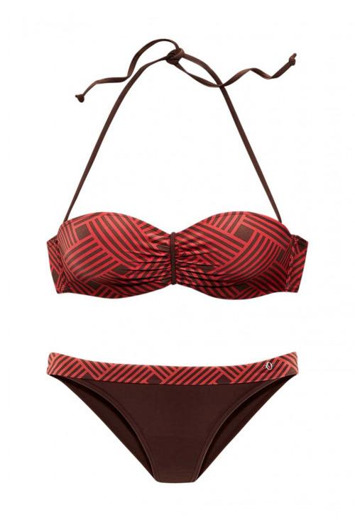 Dvoudílné bandeau plavky S.Oliver, plavky levně