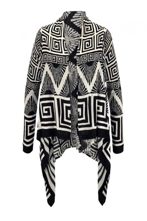 Tom Tailor Denim, značkový pletený svetr s krásným vzorem (vel.XL skladem)