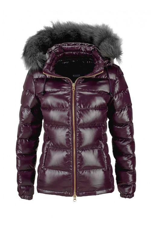 Dámská péřová prošívaná bunda, nádherná zimní bunda Laura Scott
