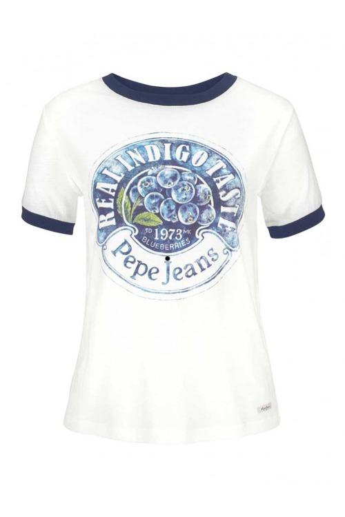 PEPE JEANS, dámské značkové tričko levně (vel.L skladem)