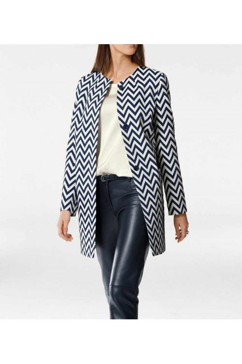 Žakárový vzorovaný kabát, kabáty pro plnoštíhlé nadměrné velikosti
