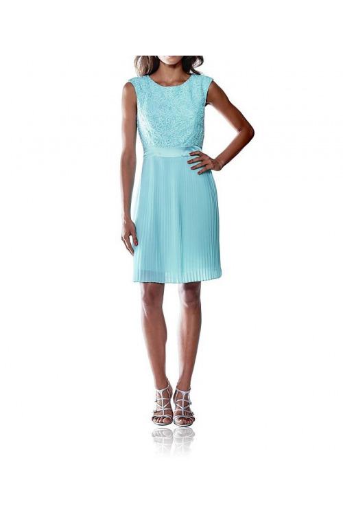 a3d8dd829c5 Plisované šaty s krajkou