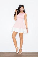Krásné šaty FIGL z materiálu ve vzhledu neoprenu (vel.M/38 skladem)