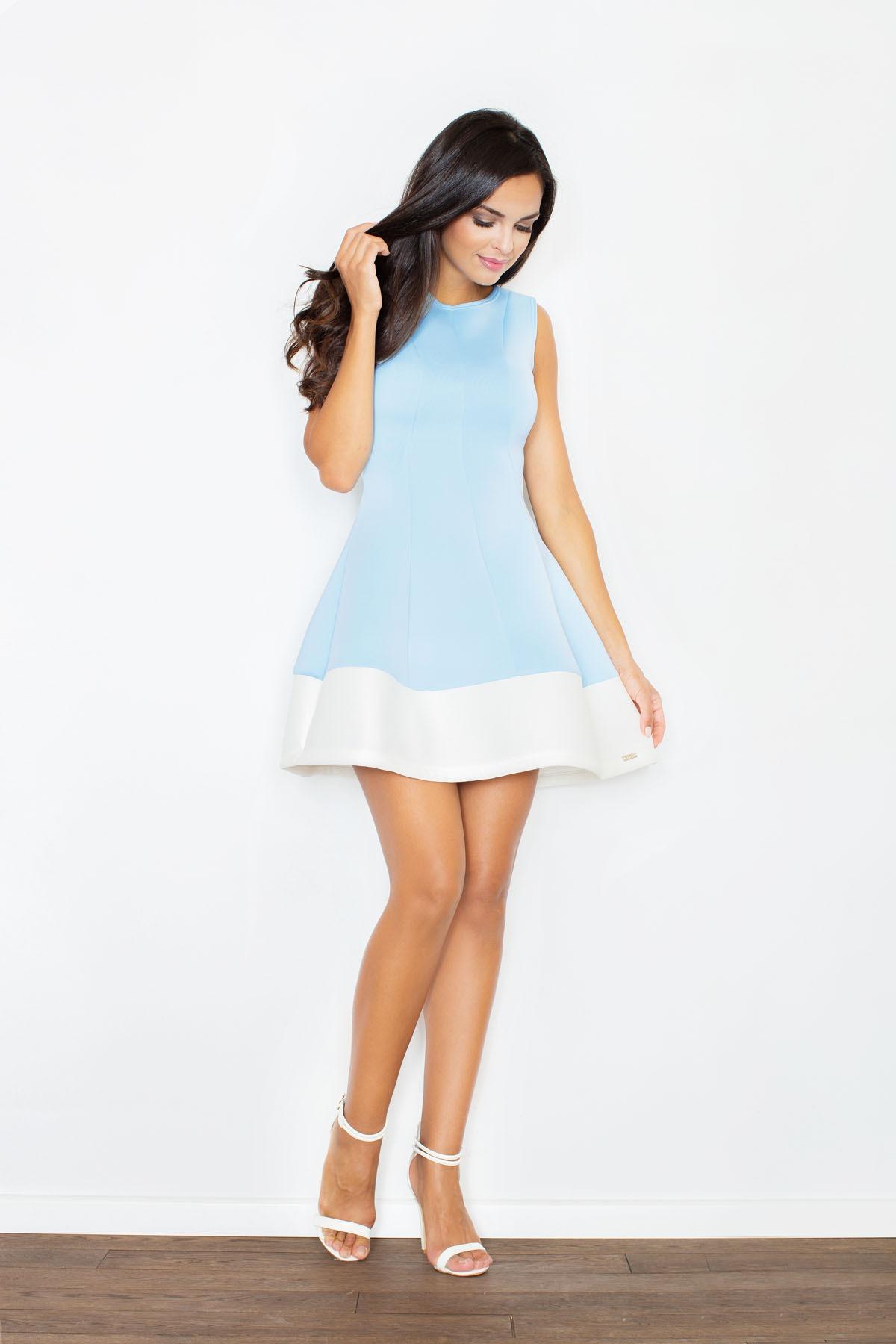 Krásné šaty FIGL z materiálu ve vzhledu neoprenu