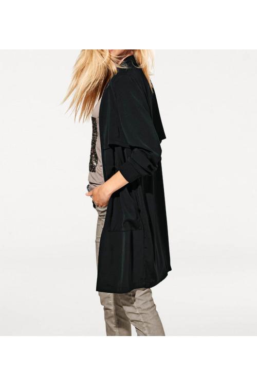 Lehký černý kabátek, HEINE