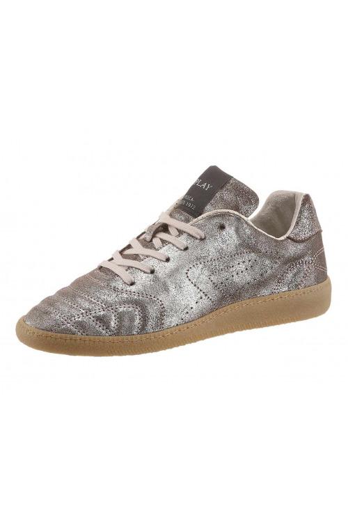 REPLAY, šněrovací dámské boty, kožené, metalické (vel.41 skladem)