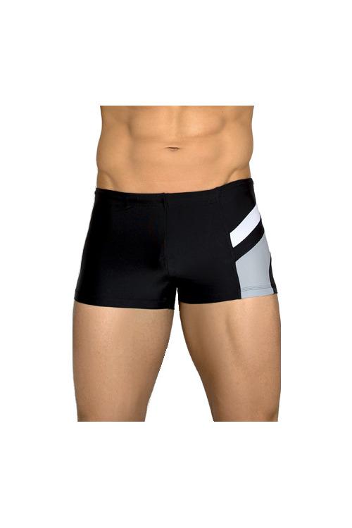 Pánské plavky boxerky Brando černošedé - černá (vel.2XL, 3XL skladem)