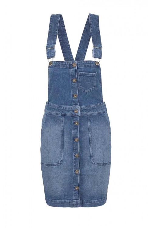 Tom Tailor Denim, laclová sukně, riflová sukně s laclem