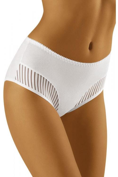 Dámské kalhotky s vyšším pásem ECO - QI bílé