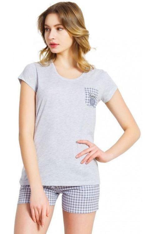 Dámské šedé bavlněné pyžamo Heather