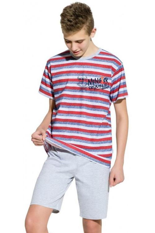 Chlapecké bavlněné pyžamo Max pruhované
