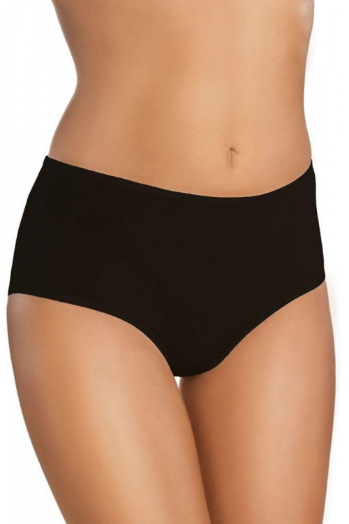 Bavlněné dámské kalhotky s vyšším pasem 18 černé