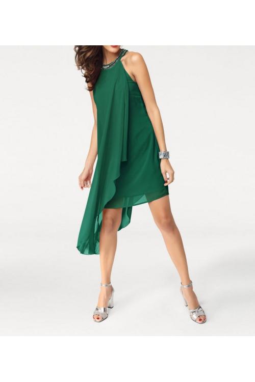 Šaty bez rukávů, šifonové šaty Ashley Brooke
