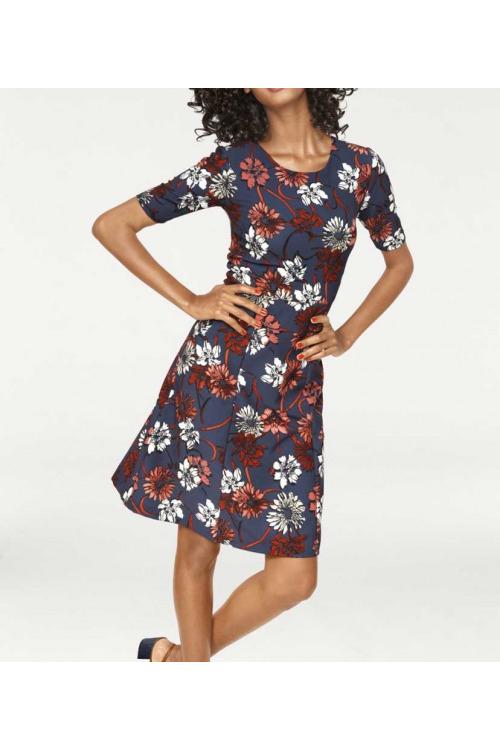 Zeštíhlující šaty Ashley Brooke s květinovým vzorem