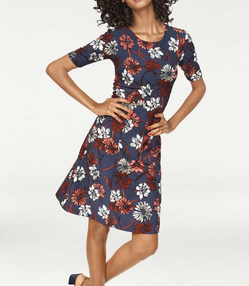 d322e4fe089e Zeštíhlující šaty Ashley Brooke s květinovým vzorem