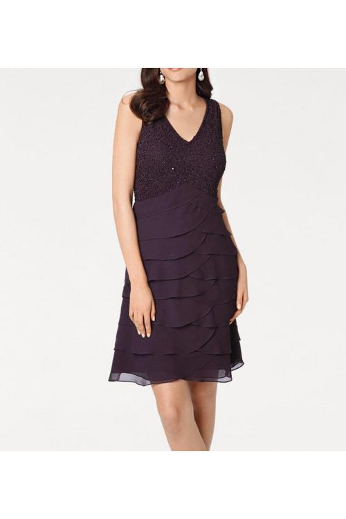 Volánové šaty s korálky, Ashley Brooke