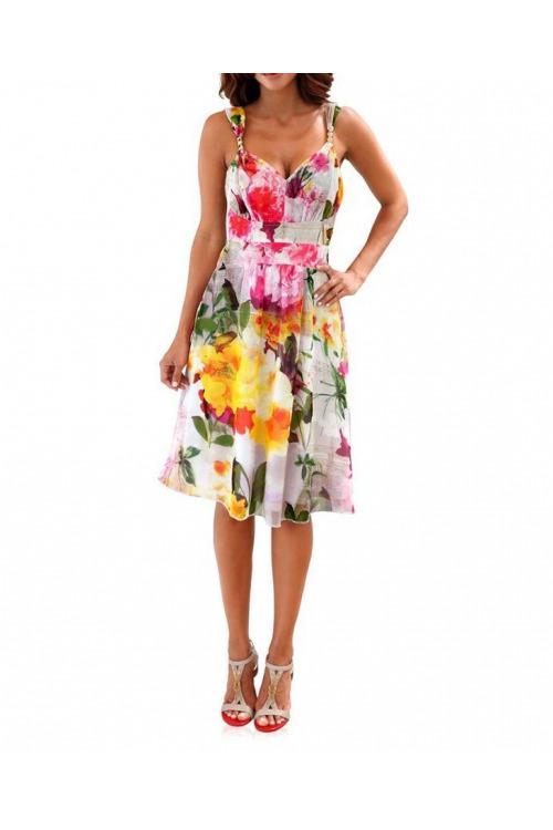 Pestrobarevné letní šaty, Ashley Brooke