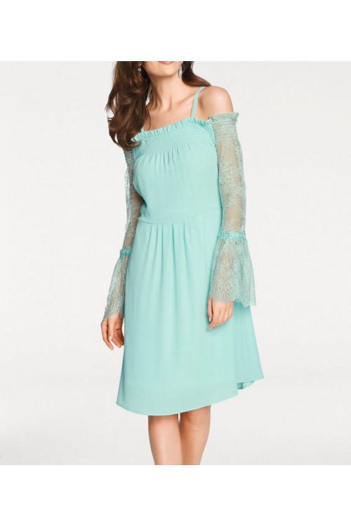 Šaty Ashley Brooke s výstřihem Carmen