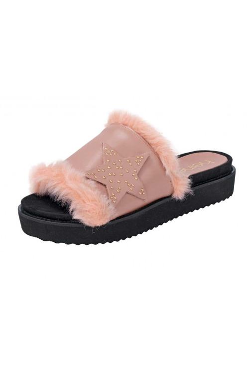 Kožené dámské pantofle HEINE