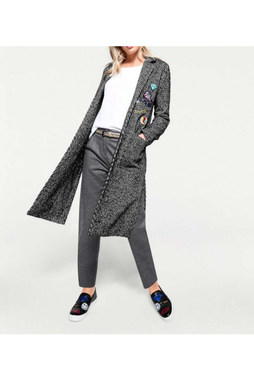 Vlněný kabát s nášivkami, HEINE
