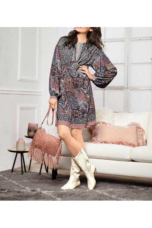Vzorované šaty, Linea Tesini šaty s potiskem