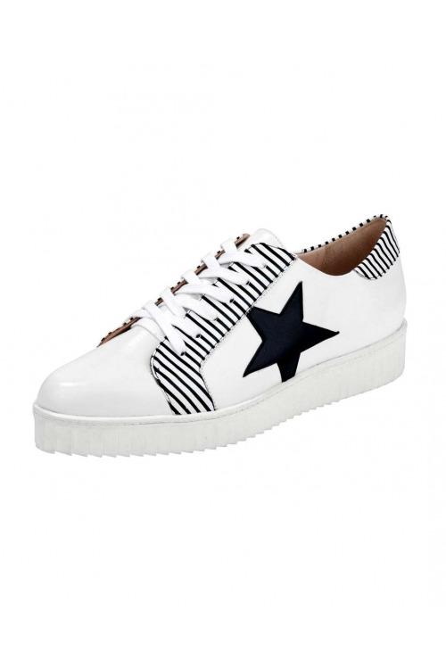Kožená obuv, bílé tenisky sneaker HEINE