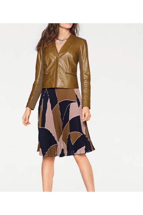 Kožené sako, dámský kožený blejzr, Patrizia Dini