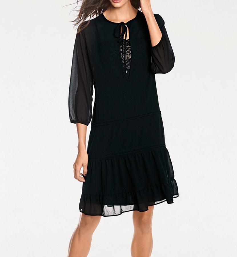 Černé šifonové šaty 7b9ecfb804