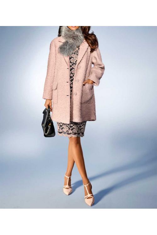 Buklé flaušový kabát také pro plnoštíhlé, Ashley Brooke