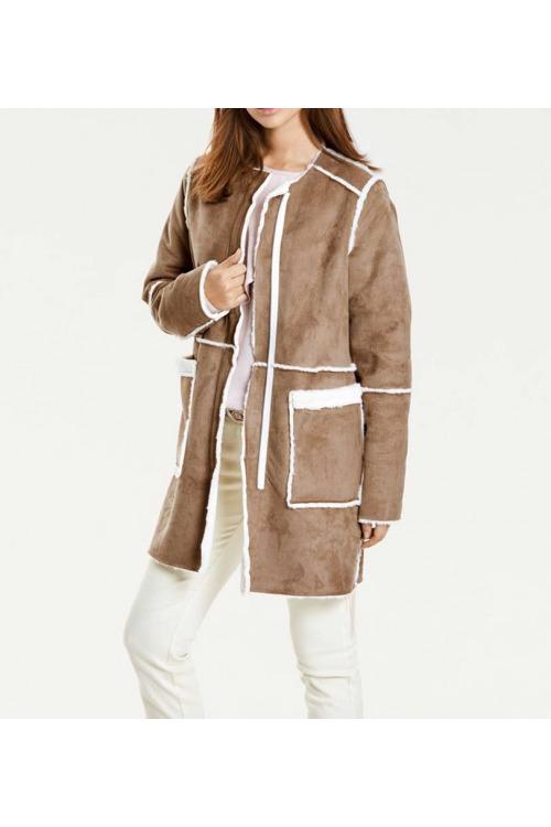 Kabát HEINE, oboustranný kabát ze tkané kožešiny