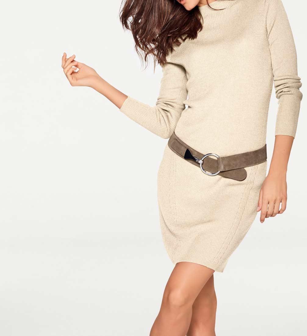 324b7b7cb0d Pletené šaty Patrizia Dini z merino vlny také pro plnoštíhlé