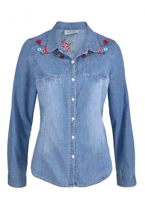 Kaporal, dámská riflová košile s výšivkou