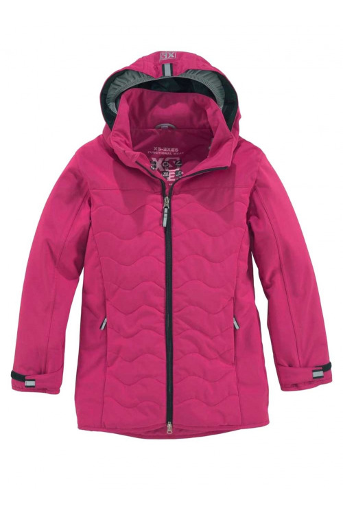 Dětská softshellová bunda, dívčí softshellový krátký kabát