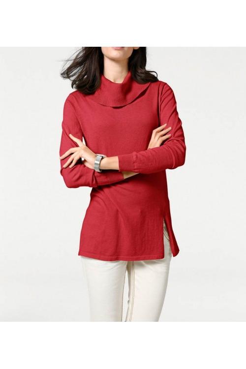 f03532c83b5 Červený dámský rolák Patrizia Dini z bavlny a hedvábí