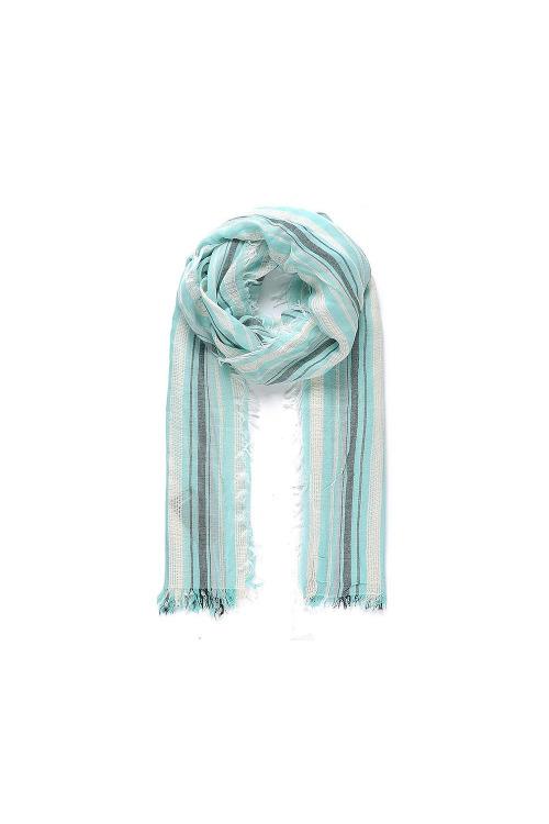 Pruhovaný šátek na krk INTRIGUE (2 ks skladem)