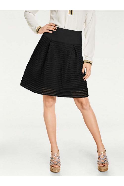 Černá dámská sukně, Rick Cardona (vel.38 skladem)