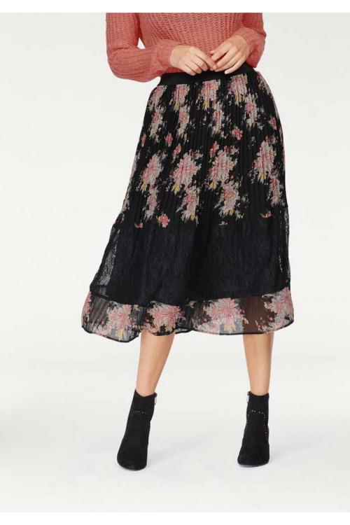 TAMARIS, plisovaná sukně s krajkou
