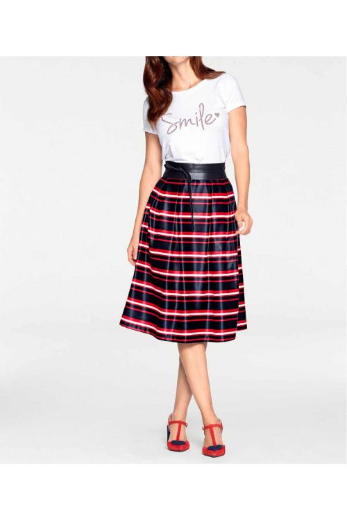 Krásná pruhovaná sukně, Ashley Brooke (vel.40,42 skladem)